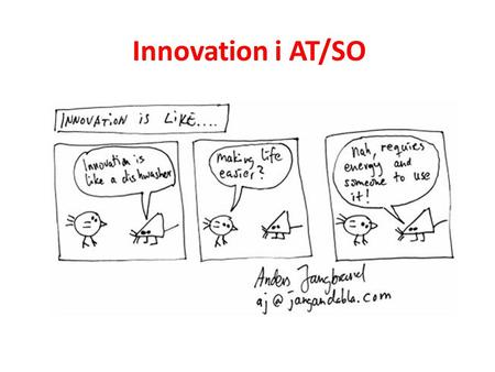 Innovation i AT/SO.