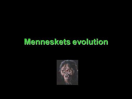 Menneskets evolution.