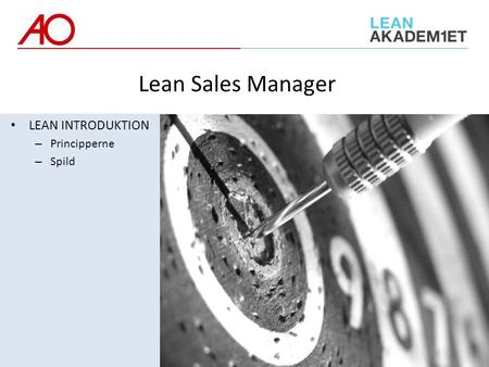 LEAN INTRODUKTION – Principperne – Spild Lean Sales Manager.