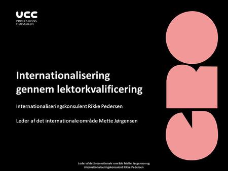 Internationalisering gennem lektorkvalificering