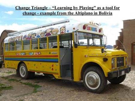 "Change Triangle – ""Learning by Playing"" as a tool for change - example from the Altiplano in Bolivia."