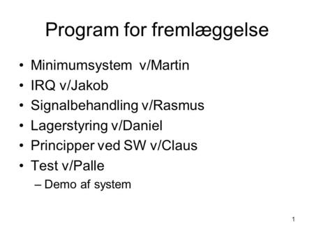 Program for fremlæggelse