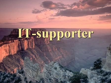 IT-supporter.