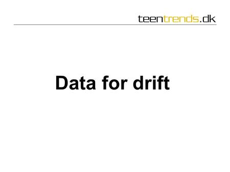 Data for drift.