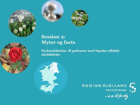 Session 2: Myter og facts Psykoedukation til patienter med bipolar affektiv sindslidelse.