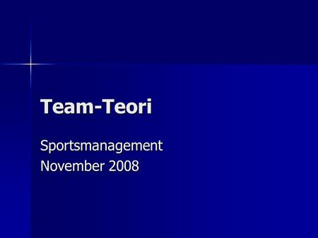Sportsmanagement November 2008