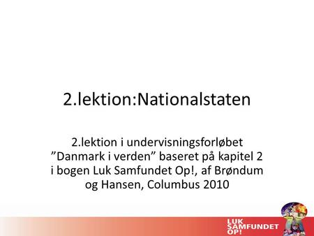 2.lektion:Nationalstaten