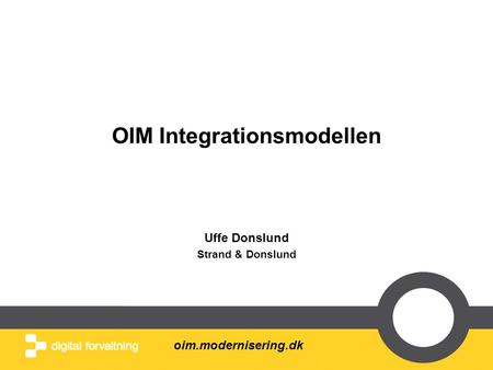 OIM Integrationsmodellen