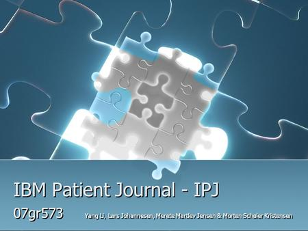 IBM Patient Journal - IPJ