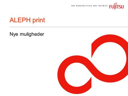 ALEPH print Nye muligheder. eLib seminar 18.–19. november 2004 SERVER KLIENT GUI, Job manager, Print Dæmon PrintFile (Udskrifter) XML PC SERVER Batch.