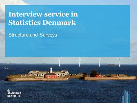 Interview service in Statistics Denmark Structure and Surveys.