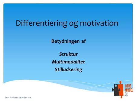 Differentiering og motivation