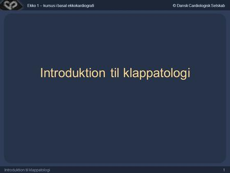Introduktion til klappatologi