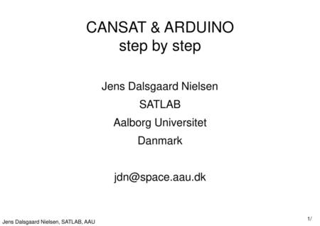 CANSAT & ARDUINO step by step