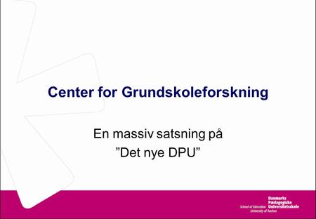 Center for Grundskoleforskning