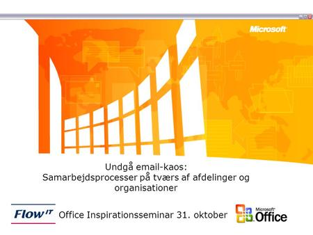 Office Inspirationsseminar 31. oktober