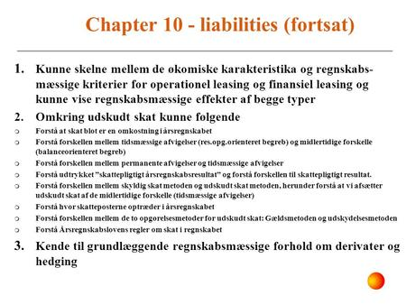 Chapter 10 - liabilities (fortsat)