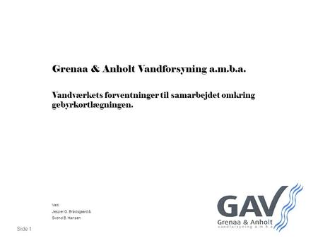Grenaa & Anholt Vandforsyning a.m.b.a.