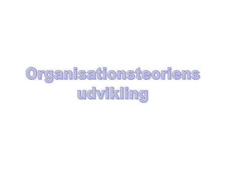 Organisationsteoriens
