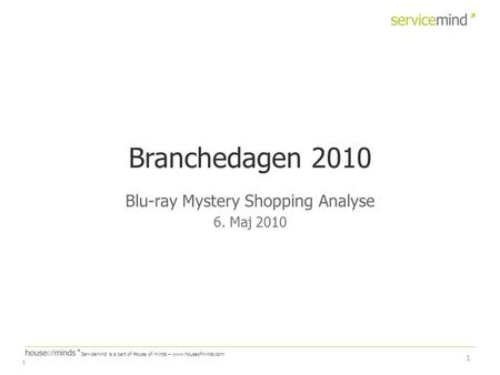 Blu-ray Mystery Shopping Analyse 6. Maj 2010