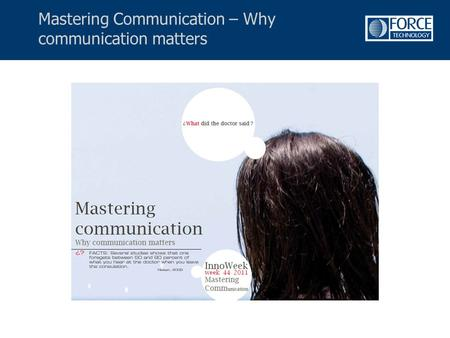 Mastering Communication – Why communication matters.