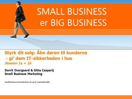 Dorrit Overgaard & Gitte Casparij Small Business Marketing