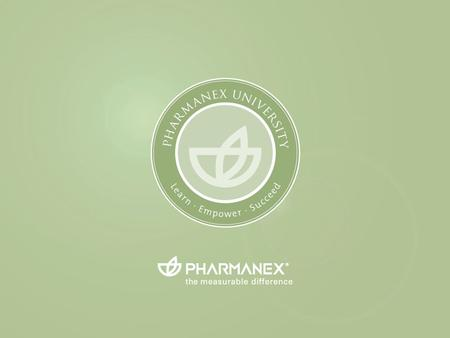 Pharmanex University EXITENTER. g ấ c superfrugtblanding med lipocarotener tm G3 ™