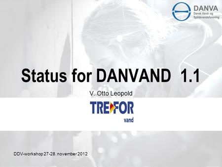 Status for DANVAND 1.1 V. Otto Leopold DDV-workshop 27-28. november 2012.