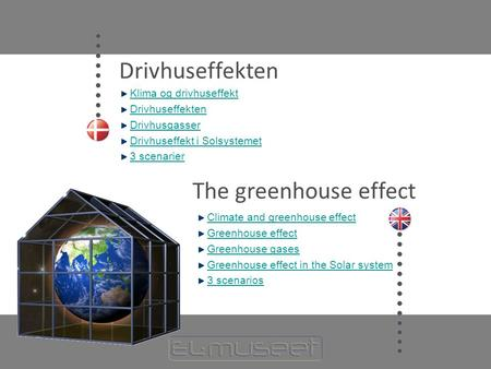 Drivhuseffekten The greenhouse effect Klima og drivhuseffekt