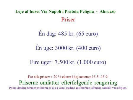 Leje af stillads priser