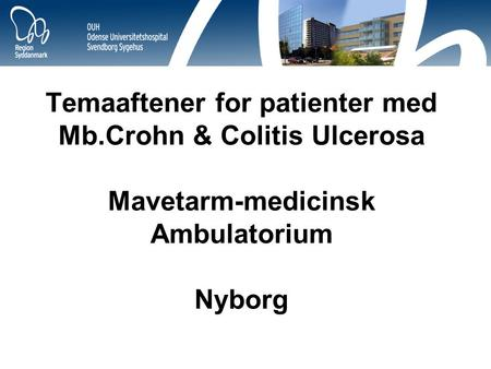 Temaaftener for patienter med Mb