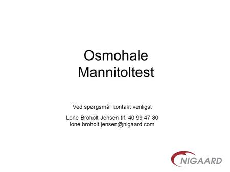 Osmohale Mannitoltest