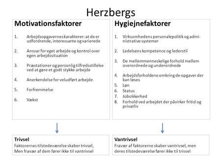 motivationsfaktorer