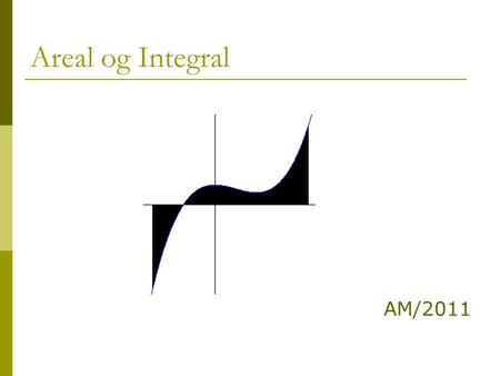 Areal og Integral AM/2011.
