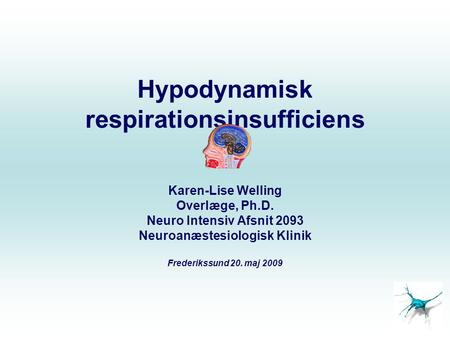 Hypodynamisk respirationsinsufficiens