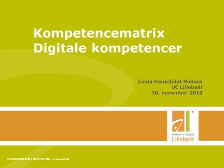 Kompetencematrix Digitale kompetencer