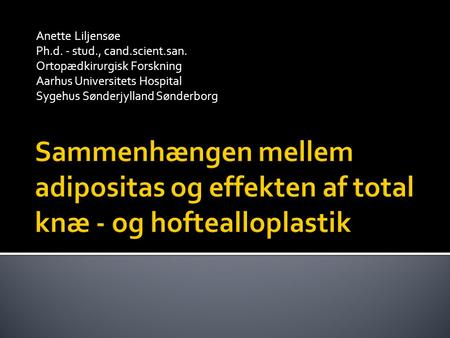 KVALITET OG ØKONOMI HÅND I HÅND? Beth Lilja Dansk Selskab for Patientsikkerhed. - ppt download