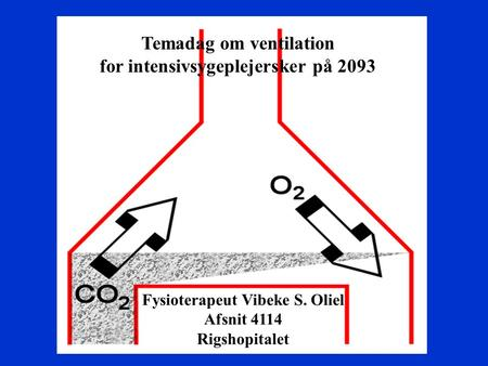 Temadag om ventilation for intensivsygeplejersker på 2093