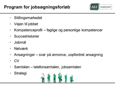 Program for jobsøgningsforløb