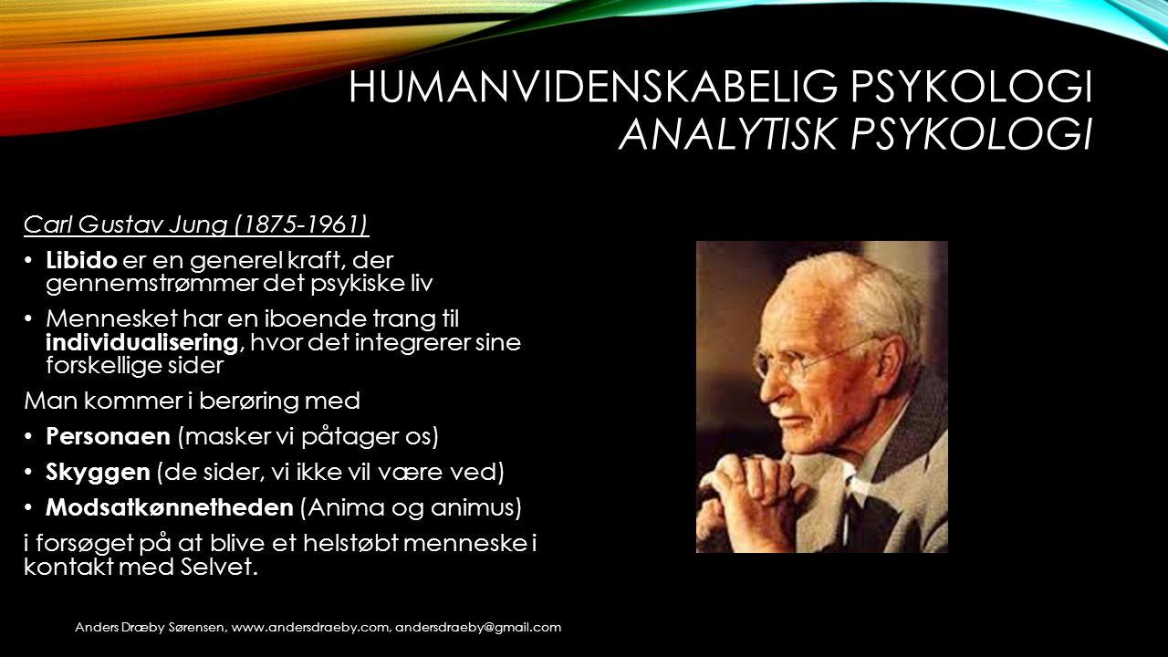 Humanvidenskabelig psykologi Analytisk psykologi