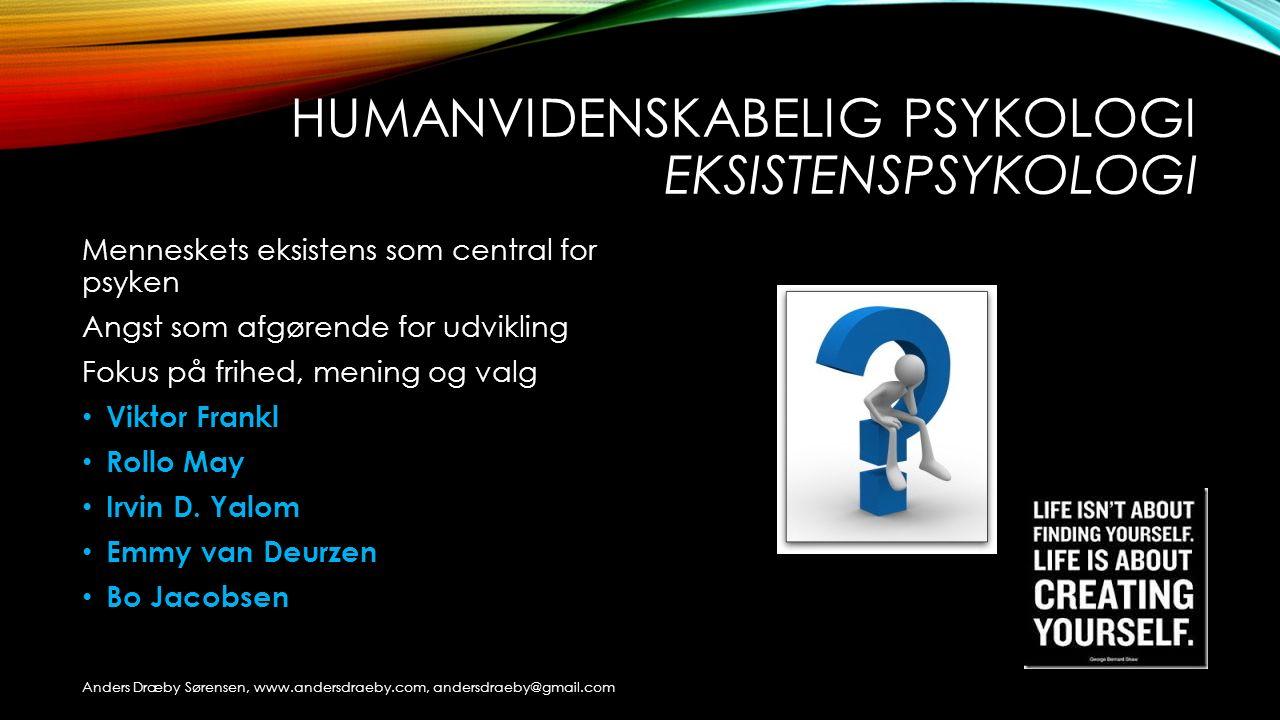 Humanvidenskabelig psykologi eksistenspsykologi