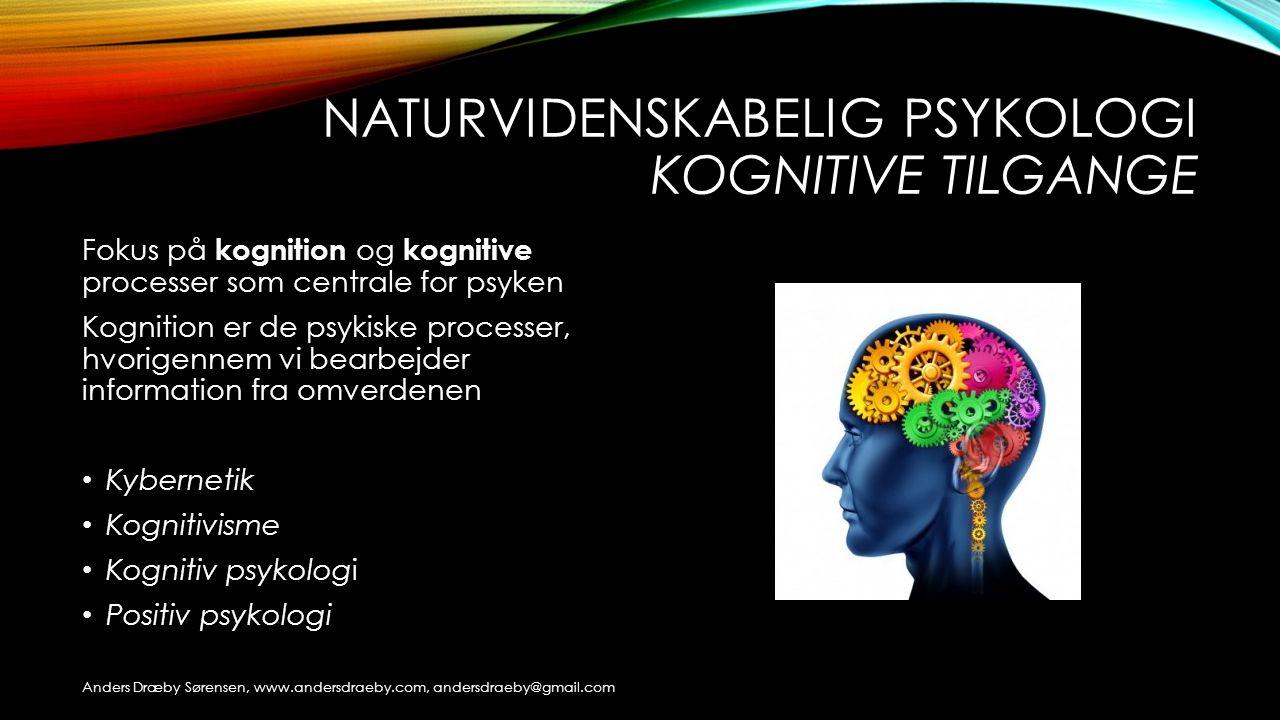 Naturvidenskabelig psykologi kognitive tilgange