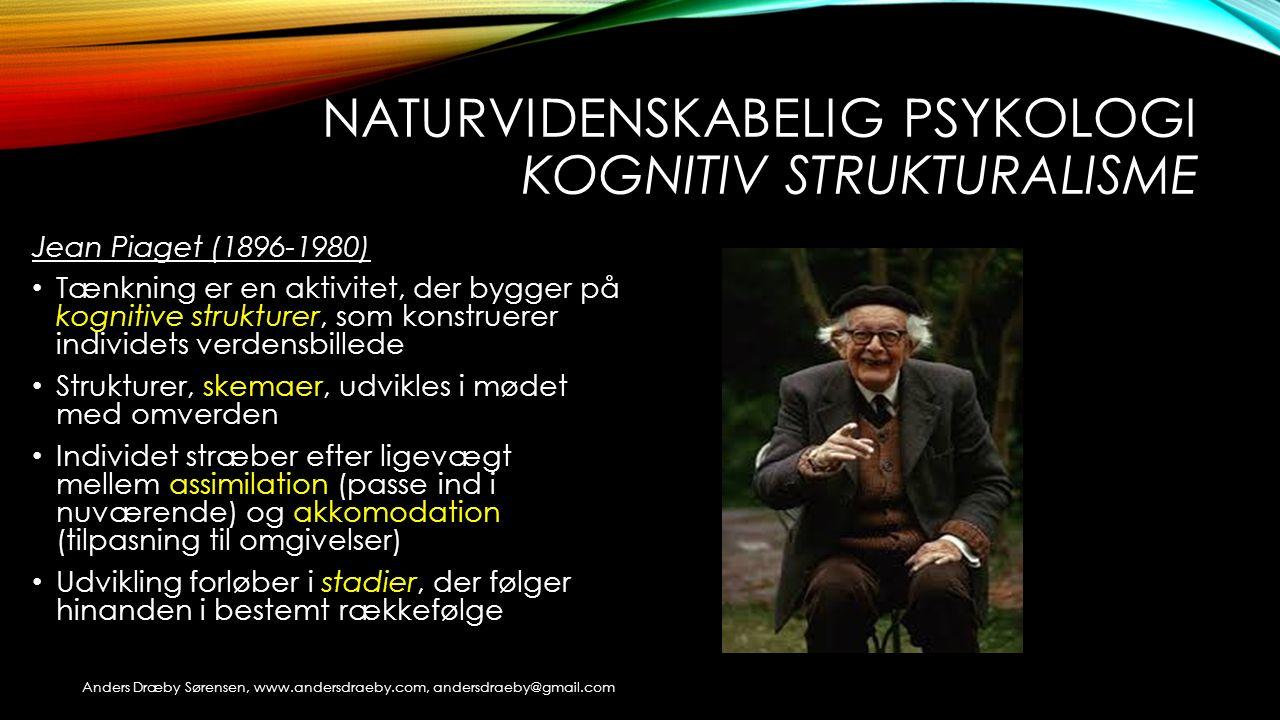 Naturvidenskabelig psykologi Kognitiv strukturalisme