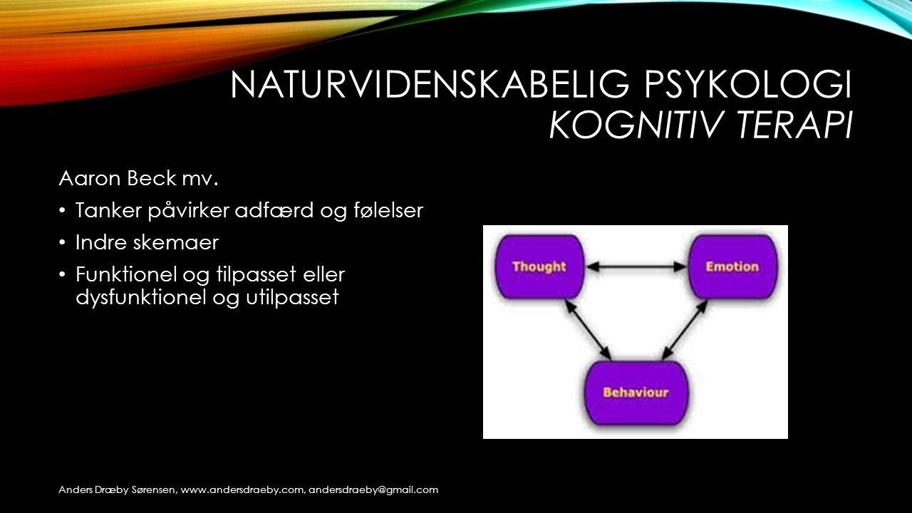 Naturvidenskabelig psykologi kognitiv terapi