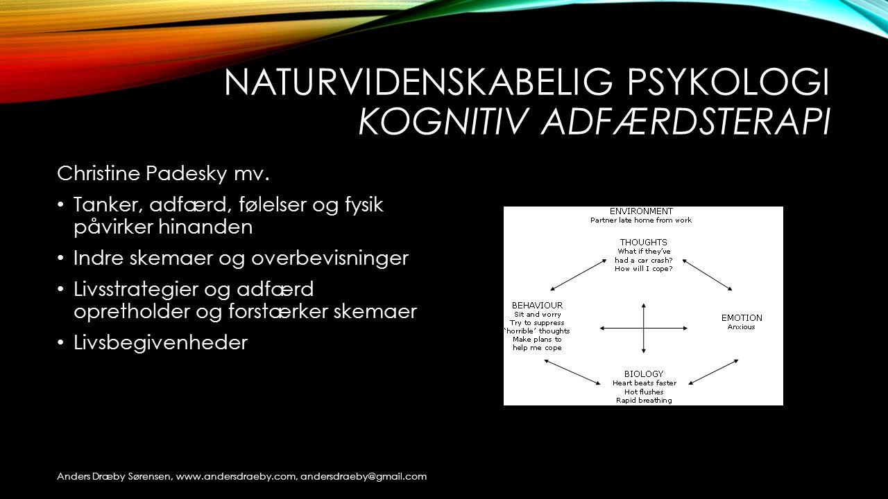 Naturvidenskabelig psykologi kognitiv adfærdsterapi