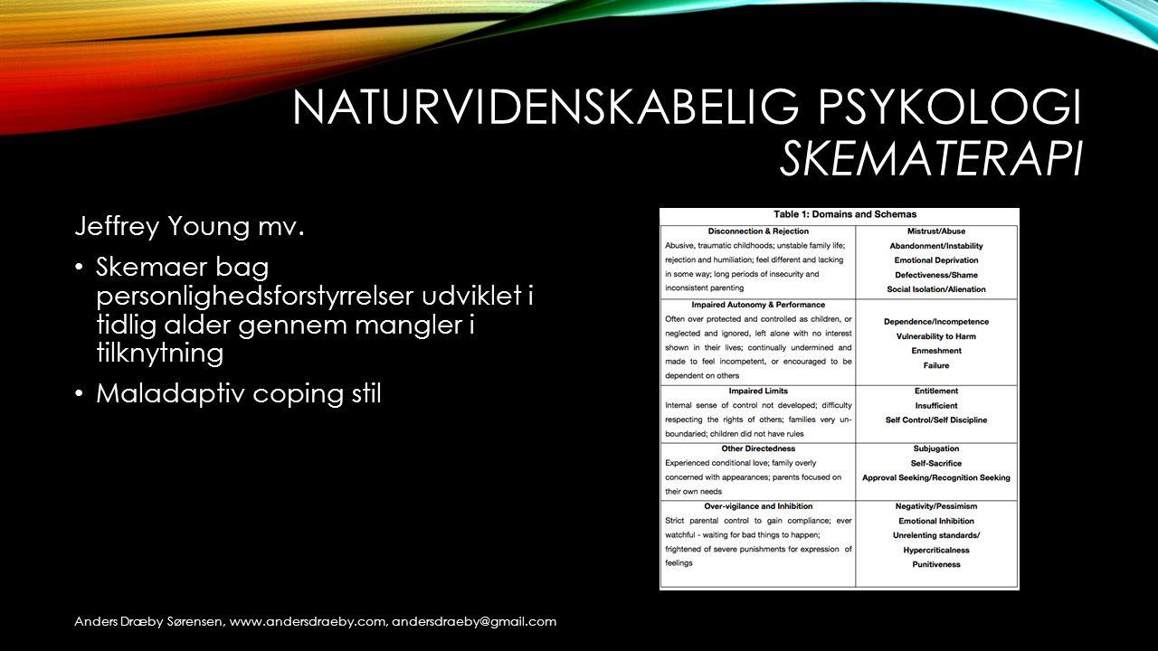 Naturvidenskabelig psykologi skematerapi