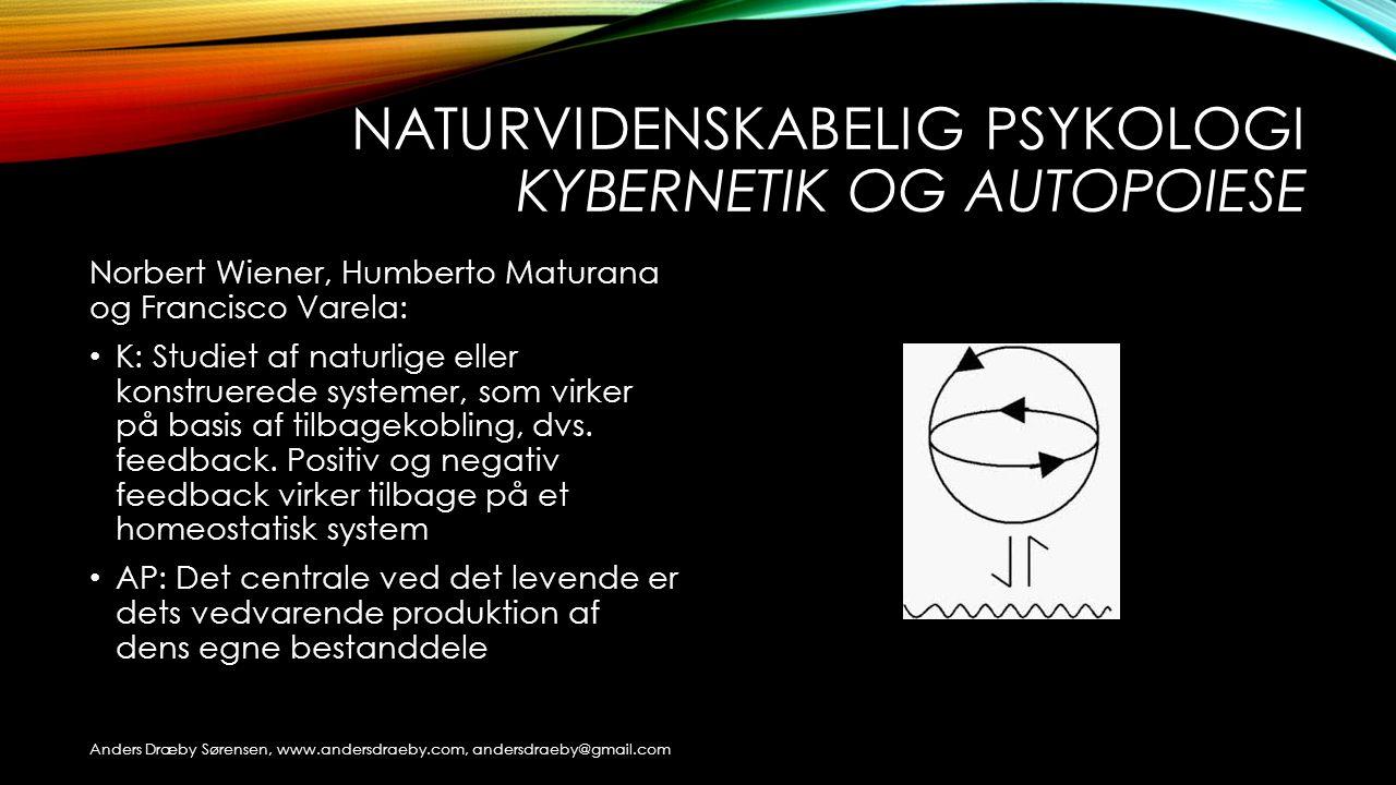 Naturvidenskabelig psykologi Kybernetik og autopoiese