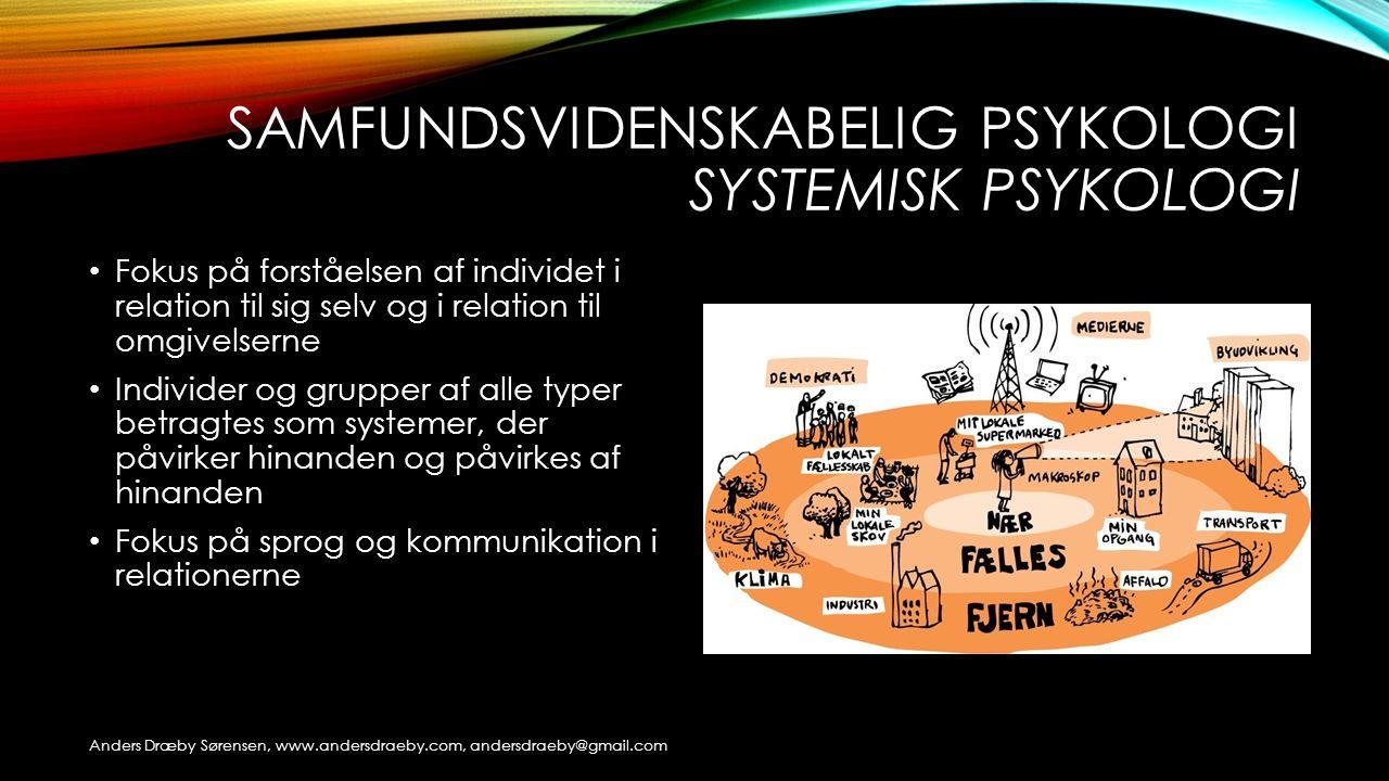 Samfundsvidenskabelig psykologi systemisk psykologi