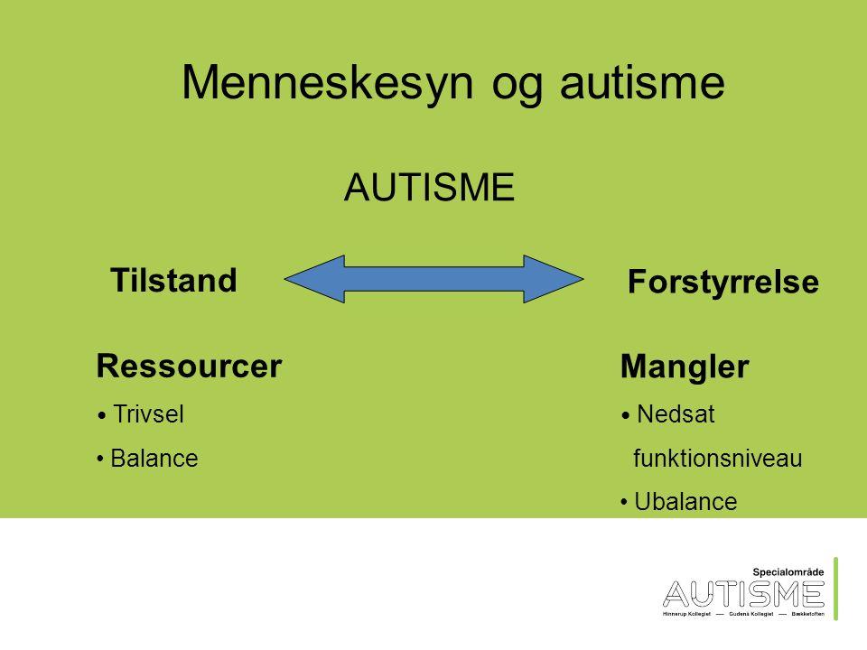 Den næste time… Autismeforståelse Diagnosekriterier