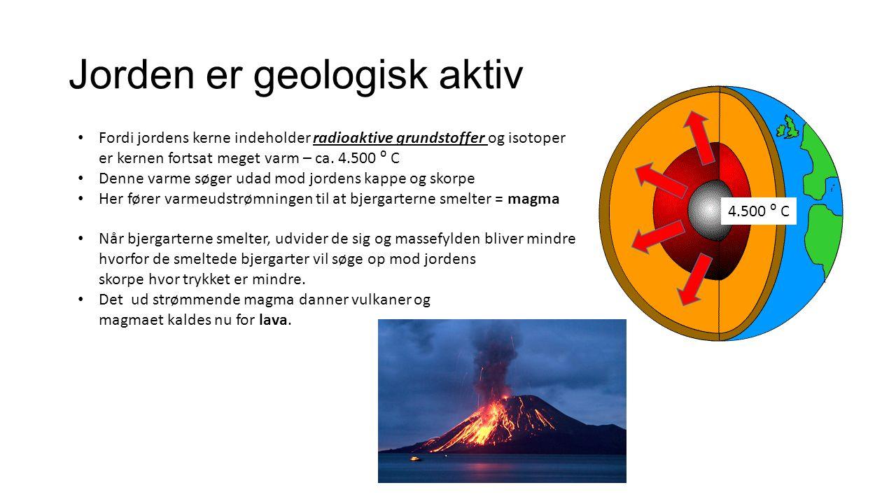 Jorden er geologisk aktiv